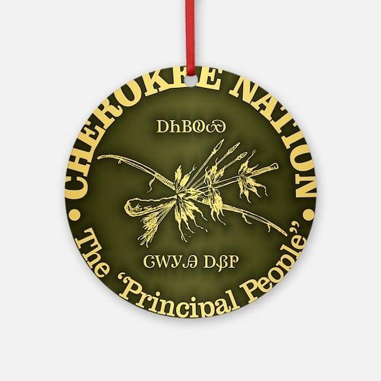 Cherokee Nation Round Ornament