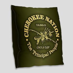 Cherokee Nation Burlap Throw Pillow