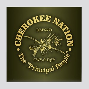 Cherokee Nation Tile Coaster