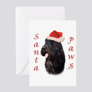Bouvier Paws Greeting Card