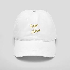 Carpe Diem Gold Faux Foil Metallic Glitter Quo Cap