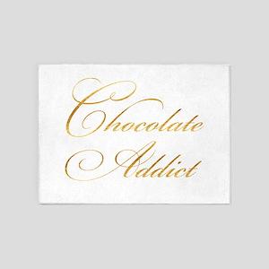 Chocolate Addict Gold Faux Foil Met 5'x7'Area Rug