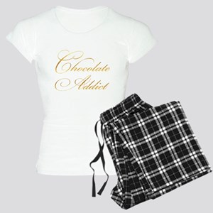 Chocolate Addict Gold Faux Women's Light Pajamas
