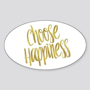Choose Happiness Gold Faux Foil Metallic G Sticker