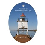 Two Harbors Lighthouse South Oval Ornament