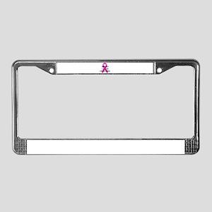 Breast Cancer Awareness Ribbon License Plate Frame