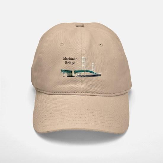 Mackinac Bridge & Boat Baseball Baseball Cap