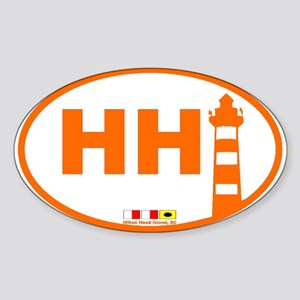 Hilton Head Island Oval Sticker