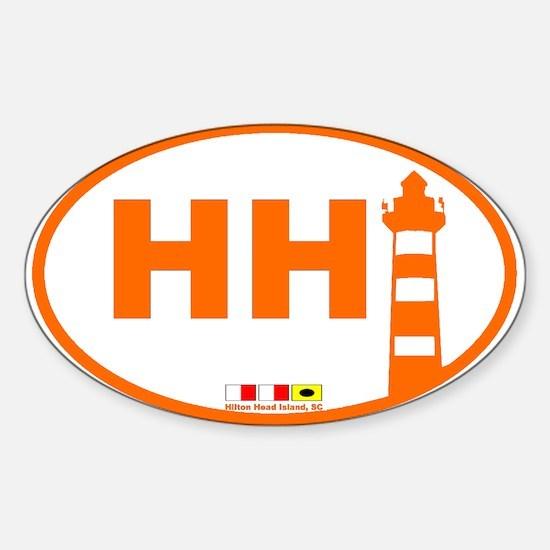 Hilton Head Island Oval Decal