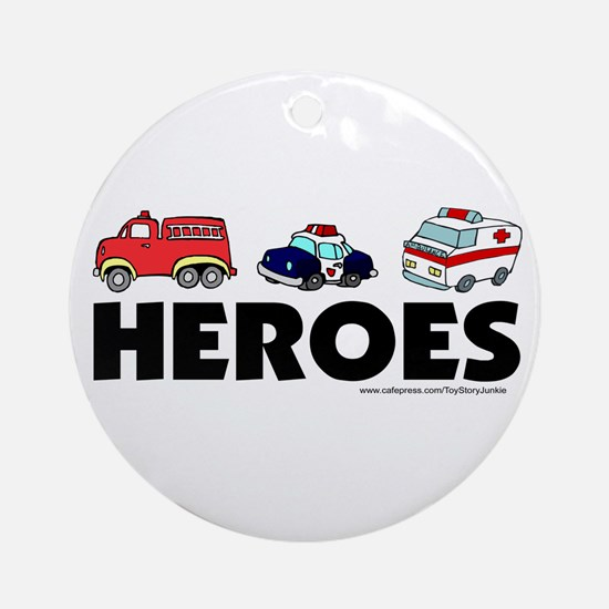 HEROES (EMT, fire, police) Ornament (Round)