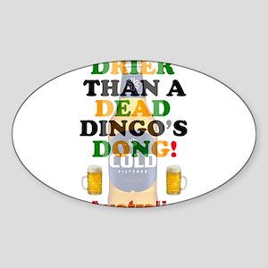 AUSTRALIAN BEER - DRIER THAN A DEAD DINGO' Sticker