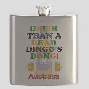 AUSTRALIAN BEER - DRIER THAN A DEAD DINGO'S Flask
