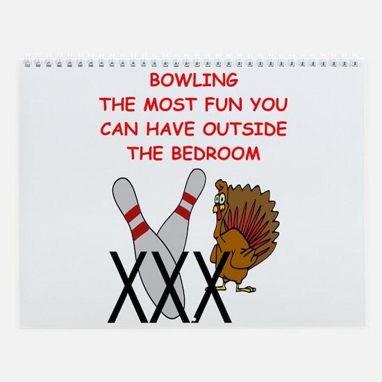 Bowling Wall Calendar