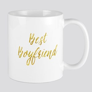 Best Boyfriend Gold Faux Foil Metallic Glitte Mugs