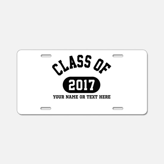 Personalize It, Class of 2017 Aluminum License Pla