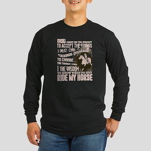 Horse Riding T Shirt, Rider T Long Sleeve T-Shirt