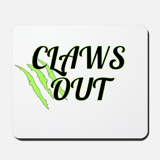 CLAWS OUT Mousepad