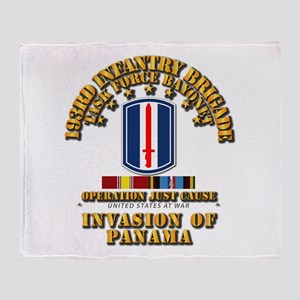 Just Cause - 193rd Infantry Bde w S Throw Blanket