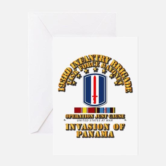 Just Cause - 193rd Infantry Bde w S Greeting Card