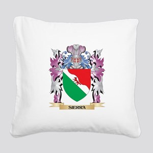 Sierra Coat of Arms - Family Square Canvas Pillow