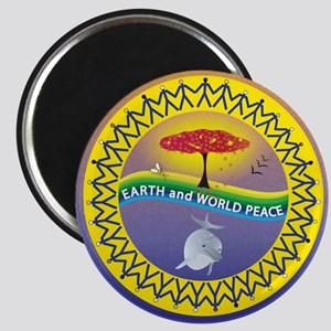 Earth and World Peace Magnet