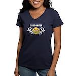 Firefighter Family Women's V-Neck Dark T-Shirt