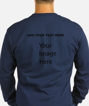 Front And Back Picture Words Long Sleeve T-Shirt