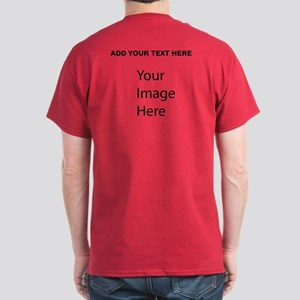 Red Tshirt Add Your Own Picture And Text T-Shirt