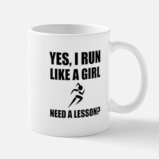 Like A Girl Running Mugs