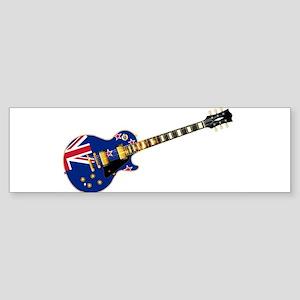 New Zealand Flag Guitar Bumper Sticker