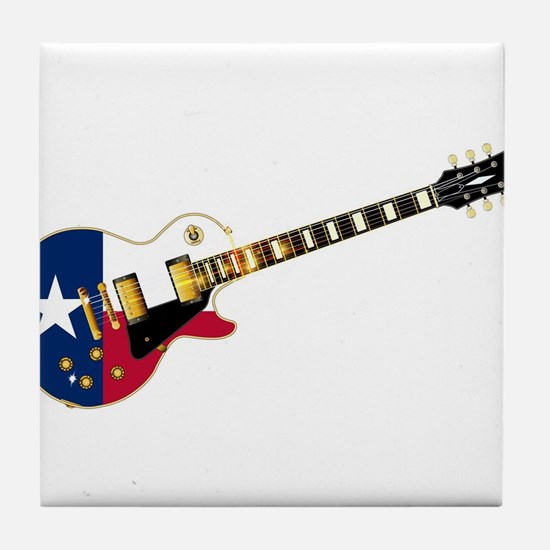 Texas Flag Guitar Guitar Tile Coaster