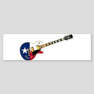 Texas Flag Guitar Guitar Bumper Sticker