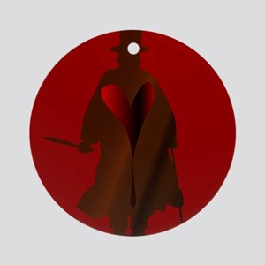 Jack the Ripper Heart Round Ornament