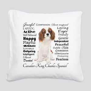 Cavalier Traits Square Canvas Pillow