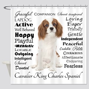Cavalier Traits Shower Curtain