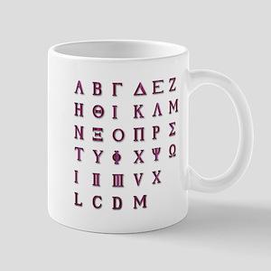 Isolated Greek Alphabet Mugs