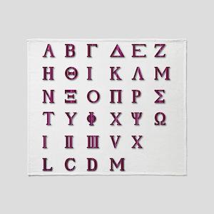 Isolated Greek Alphabet Throw Blanket