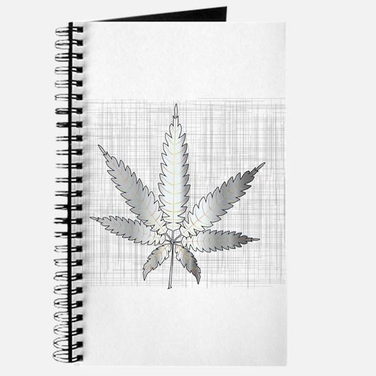 Metal Cannabis Leaf Journal