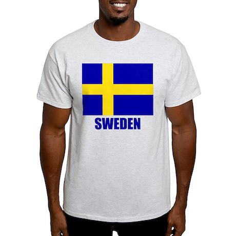 """Swedish Flag """"Sweden"""" Light T-Shirt"""