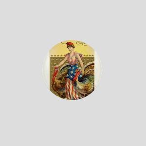 Vintage Thanksgiving American Greeting Mini Button