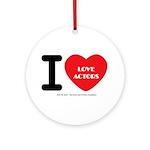 I Heart Actors Round Ornament