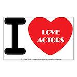 I Heart Actors Sticker