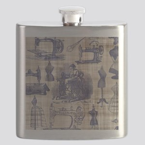 Vintage Sewing Toile Flask