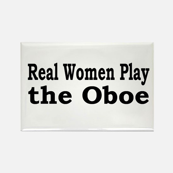 Real Women Play Oboe Rectangle Magnet