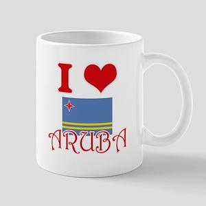 I Love Aruba Mugs