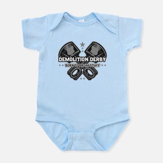 demolition derby born to break Infant Bodysuit