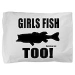 Girls Fish Too Pillow Sham