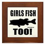Girls Fish Too Framed Tile