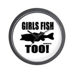 Girls Fish Too Wall Clock