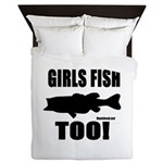 Girls Fish Too Queen Duvet